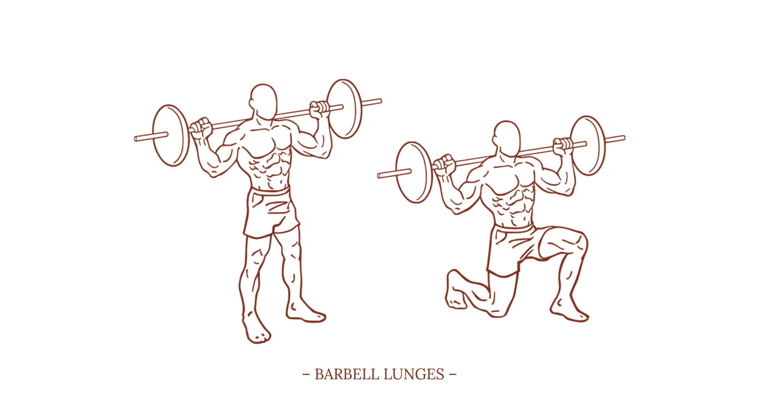 Barbell Lunges Illustration