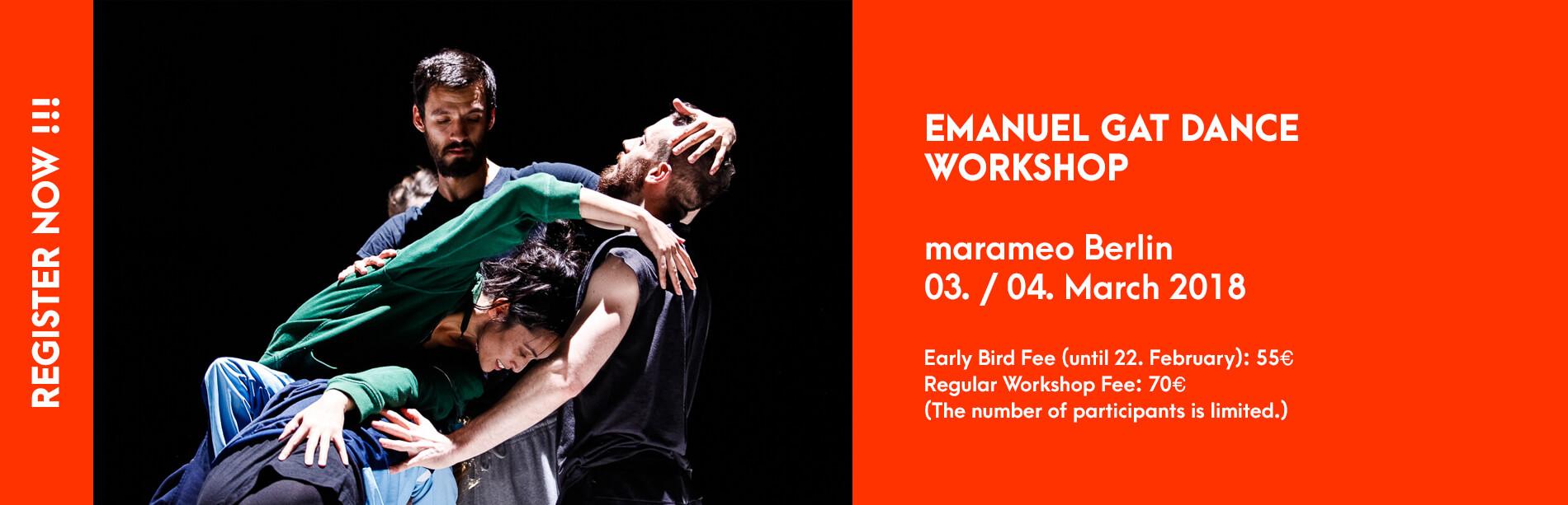 Emanuel Gat Workshop Marameo Berlin