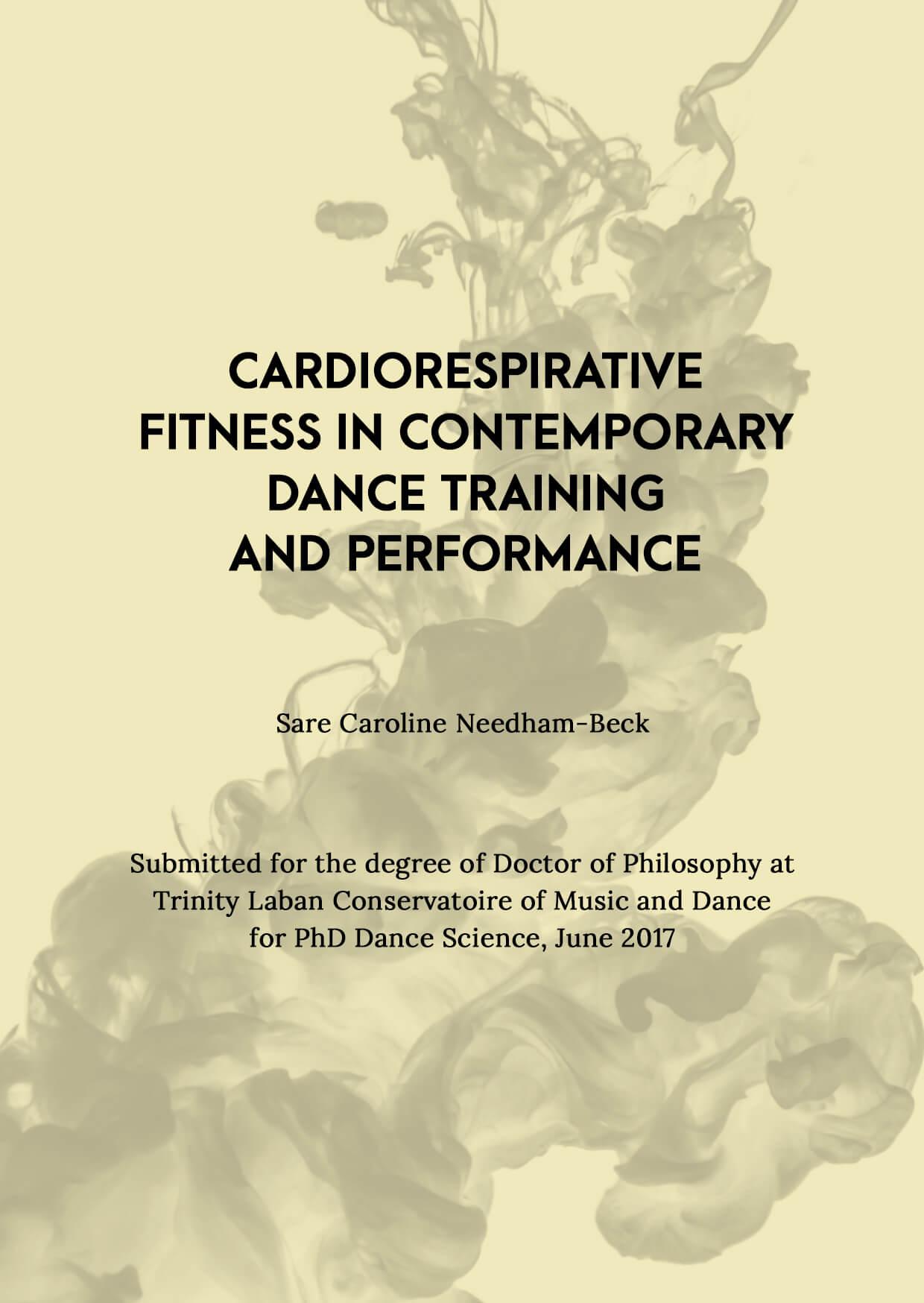 Cardiorespiratory Fitness in Contemporary Dance PDF Cover