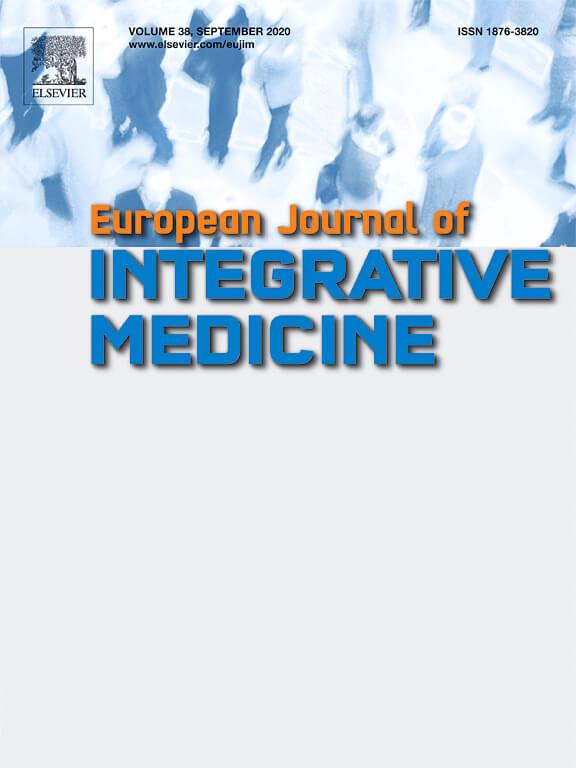 European Journal of Integrative Medicine Cover