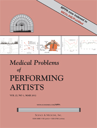 Cover Medical Problems of Performing Artists