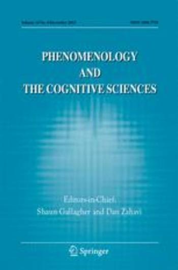 Phenomenology and the Cognitive Sciences Cover