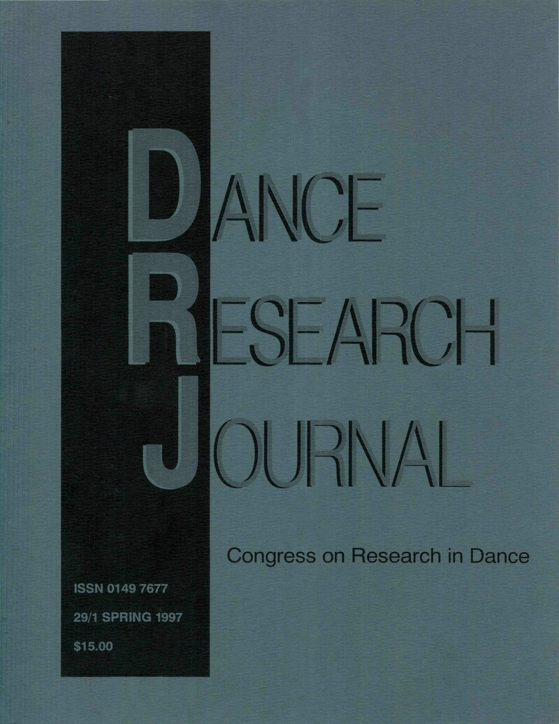 COVER Dance Research Journal 29/1 Spring 1997