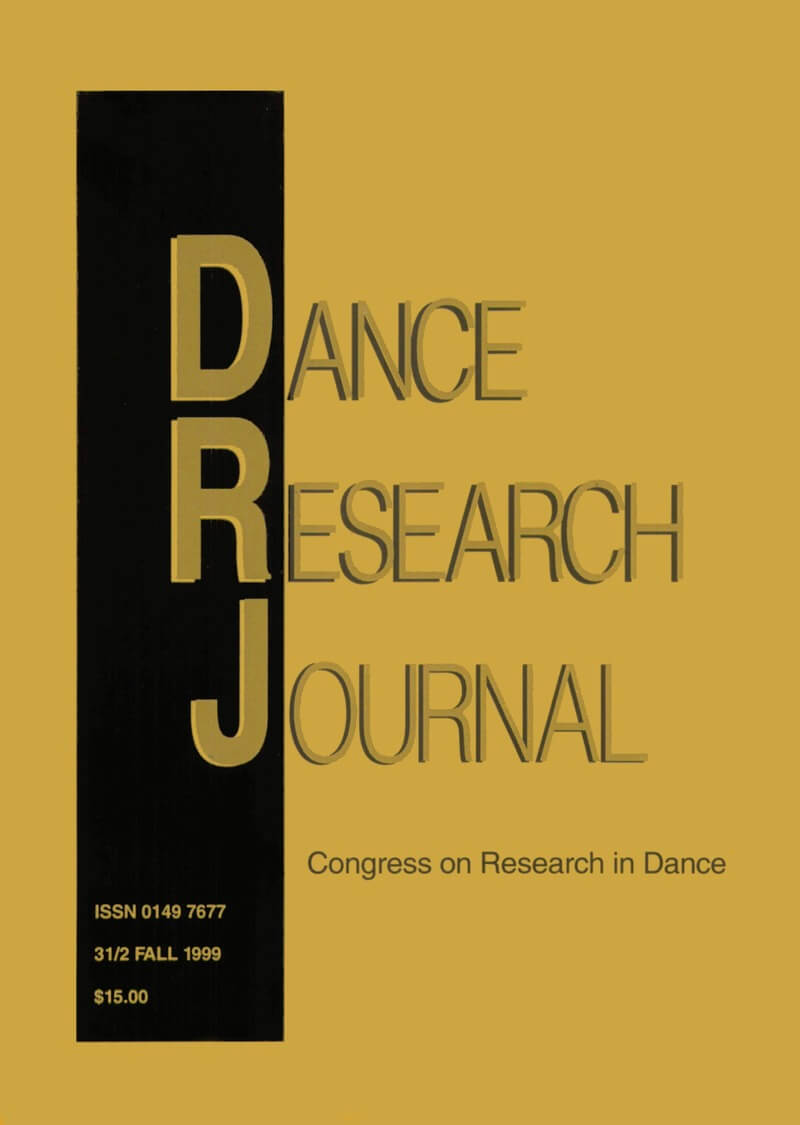 COVER Dance Research Journal 31/2 Fall 1999