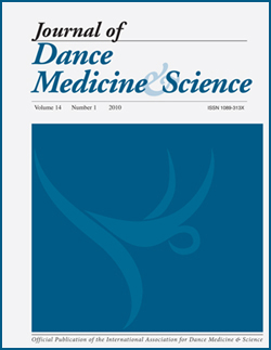 Journal of Dance Medicine and Science Cover