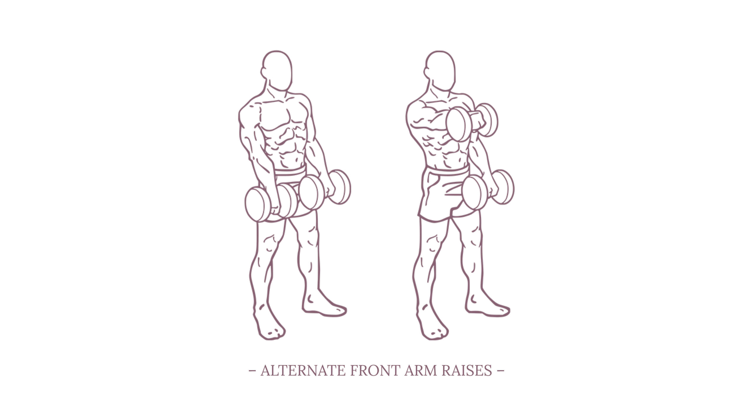Alternate Front Arm Raises Illustration