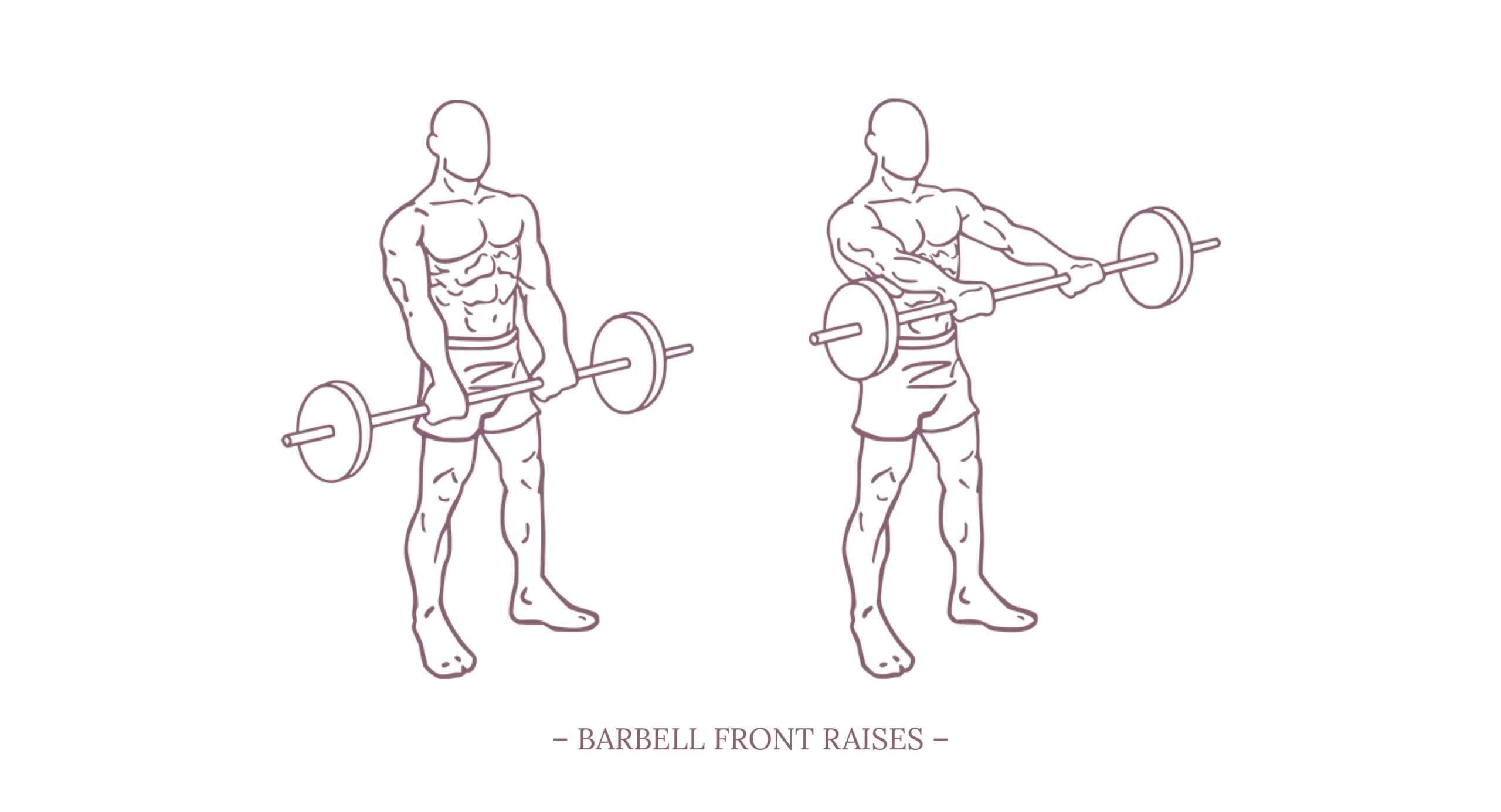 Barbell Front Raises Illustration