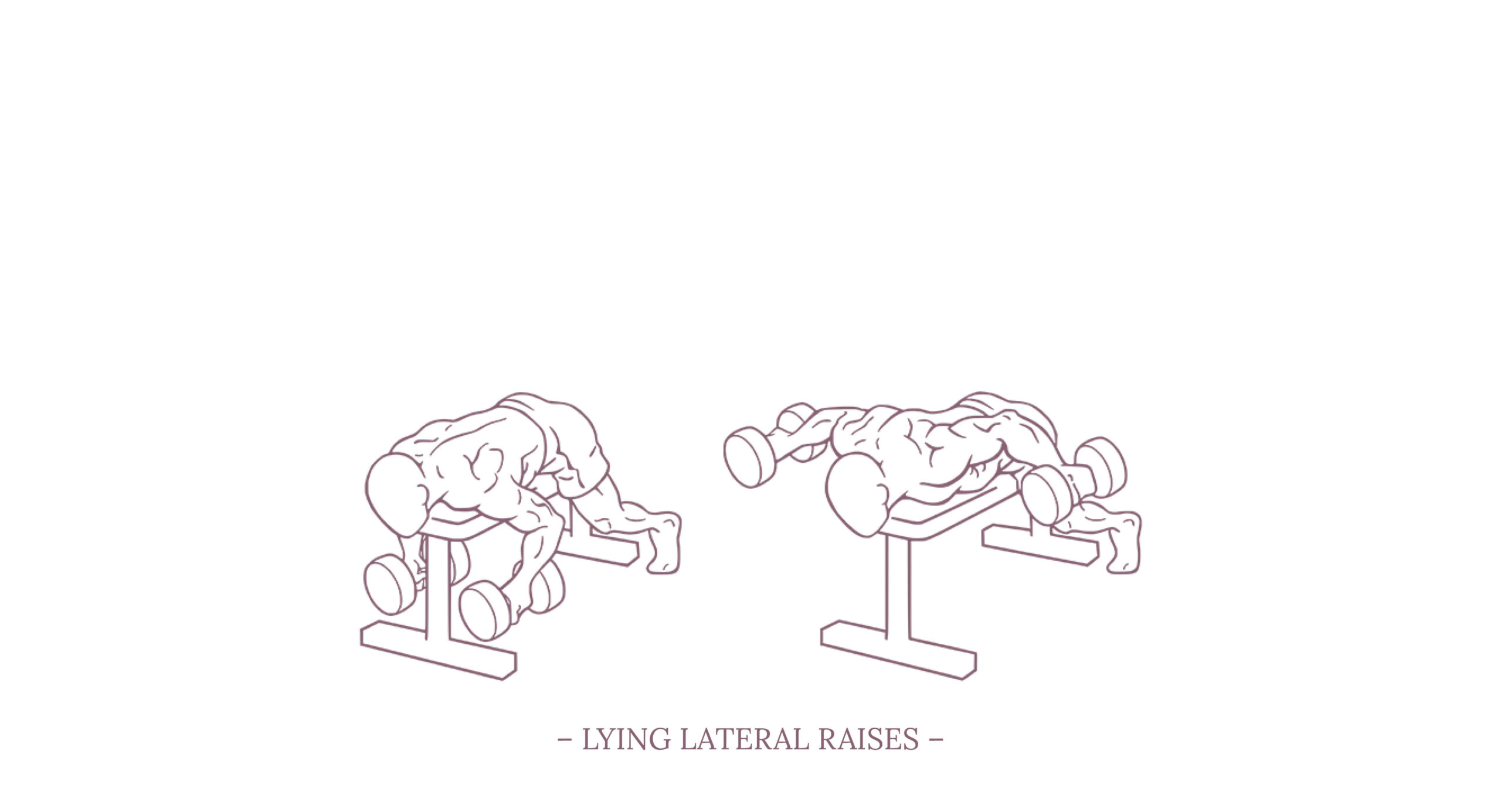 Lying Lateral Raises Illustration