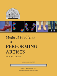 Medical Problems of Performing Artists Cover