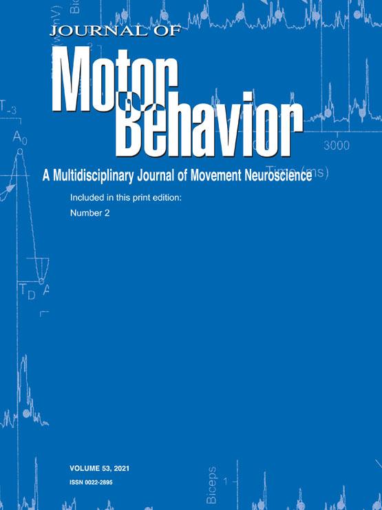 Journal of Motor Behavior Cover