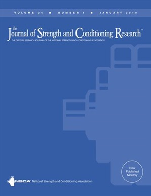 Journal of Strength and Conditioning Research Cover