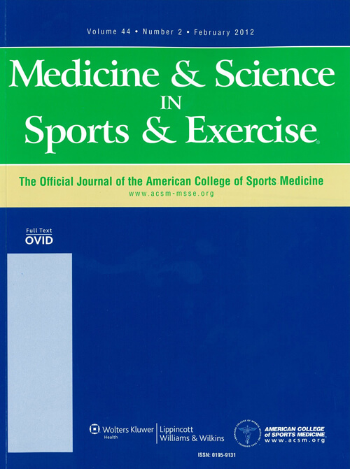 Medicine And Science In Sports And Exercise Cover