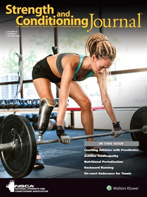 Strength And Conditioning Journal Cover