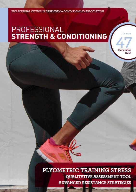 Professional Strength & Conditioning Journal Cover
