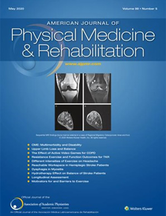American Journal for Physical Medicine & Rehabilitation Cover