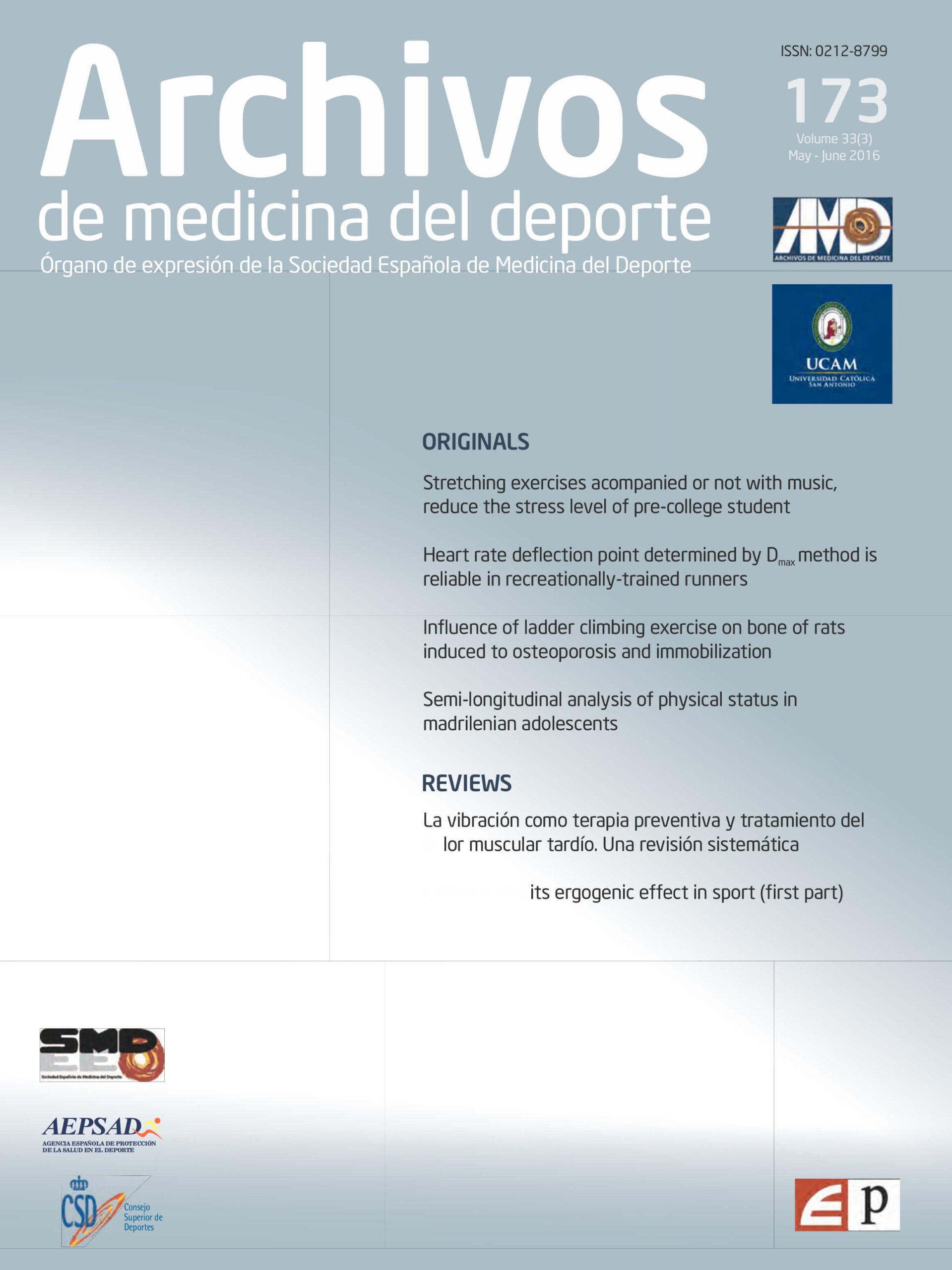 Archivos de Medicina del Deporte Cover