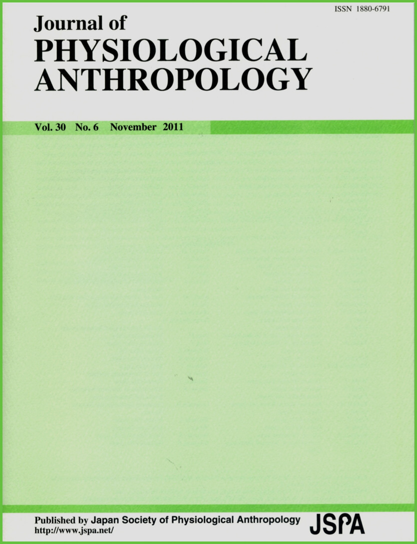 Journal of Physiological Anthropology Cover