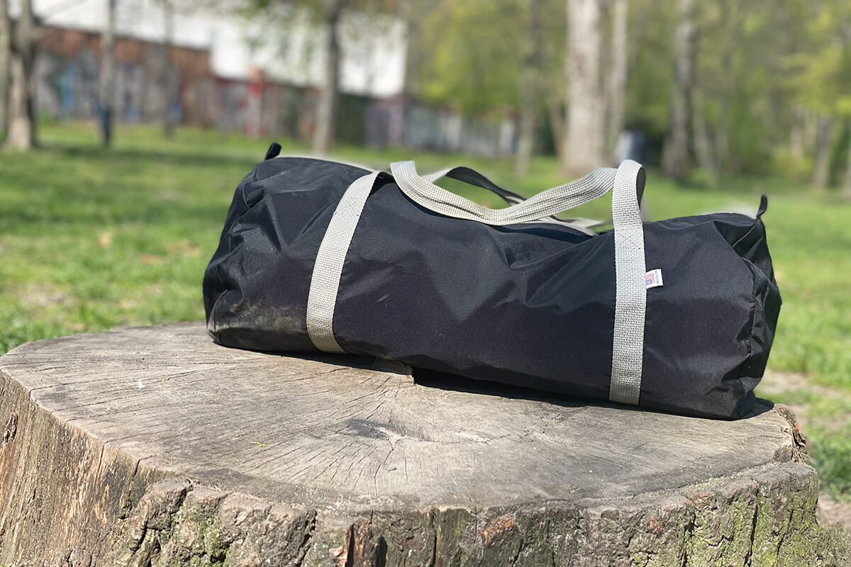 American Apparel Gym Bag / My Secret Weapons Page Title Photo