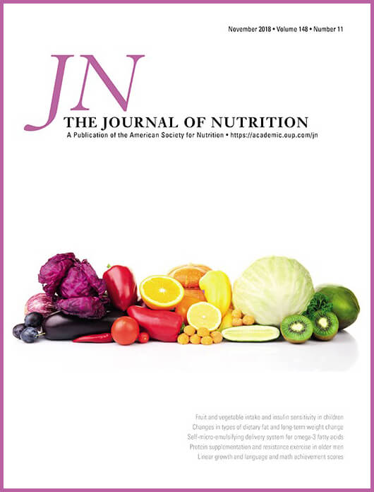 The Journal of Nutrition - Cover -CHANGES IN KIDNEY FUNCTION DO NOT DIFFER BETWEEN HEALTHY ADULTS CONSUMING HIGHER- COMPARED WITH LOWER- OR NORMAL-PROTEIN DIETS: A SYSTEMATIC REVIEW AND META-ANALYSIS